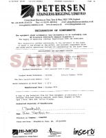 Sample Declaration Certificate